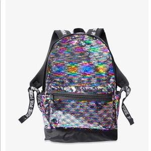 PINK Victoria Secret bling sequins backpack